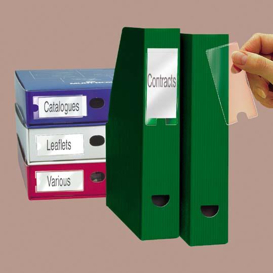 Címketartó zseb, 55x150 mm, öntapadó, 3L