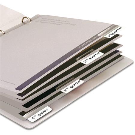 Jelölőcímke, műanyag, 4x12 lap, 12x40 mm, 3L, fehér