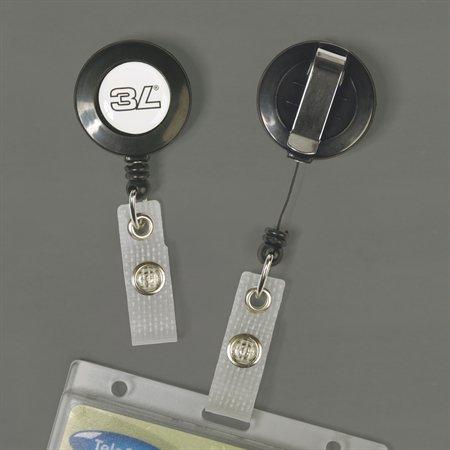 Kihúzható patentos azonosítókártya tartó, fekete,3L