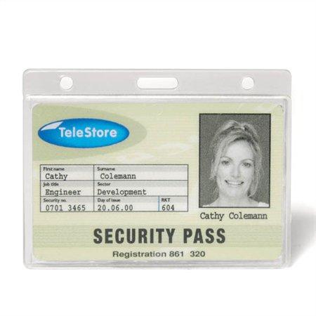 Azonosítókártya tartó, műanyag, fekvő, 91x68 mm, 3L