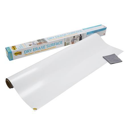 Öntapadó tábla, táblamarkerrel írható tekercs, 121,9x182.2 cm,  3M Super Sticky Dry Erase