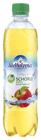 Üdítőital, enyhén szénsavas, 0,5 l, ADELHOLZENER, Bio Schorle , alma