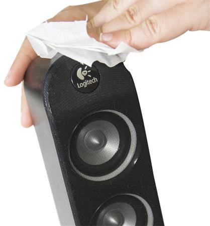 Tisztítókendő, képernyőhöz, alkoholmentes, nedves, 25 db, AF Tech-wipes