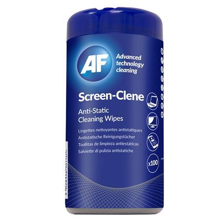 Tisztítókendő, képernyőhöz, antisztatikus, 100 db, AF Screen-Clene