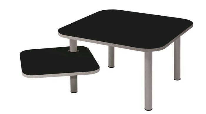 Asztal, kisméretű, ügyfélváró helyiségbe, ALBA Zoe, fekete