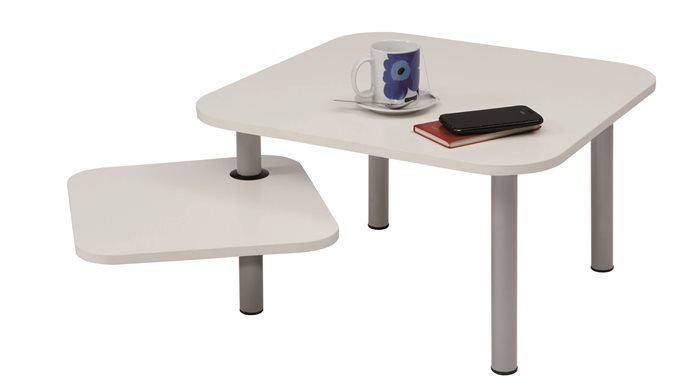 Asztal, kisméretű, ügyfélváró helyiségbe, ALBA Zoe, fehér