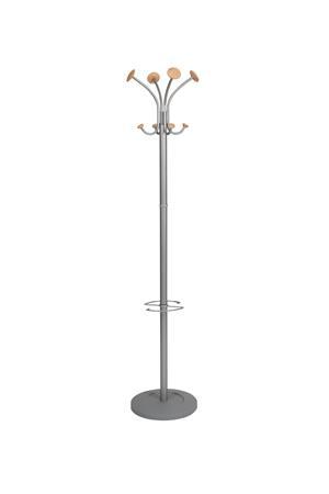 Ruhafogas, fém váz, fa gombokkal, ALBA Stily, szürke