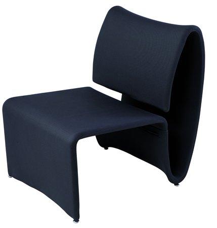 Ügyfélváró szék, fém és szövet,   ALBA Aero, fekete