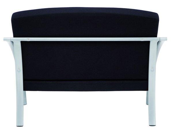 Ügyfélváró szék, fém és szövet, ALBA Nova2, fekete