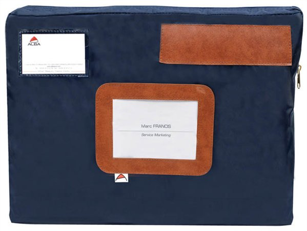 Postázó tasak, 42x5x32 cm, ALBA, kék