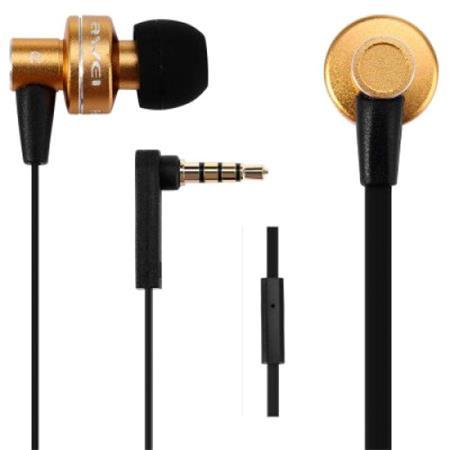 Fülhallgató, mikrofon, AWEI ES900i, arany
