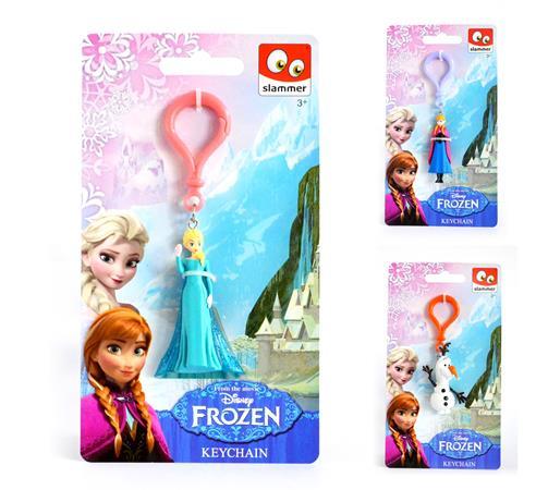 Kulcstartó, 3D, figurás, CANENCO Frozen, vegyes minták