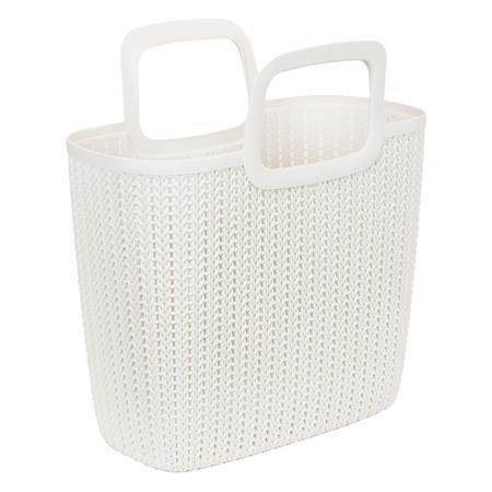 Kötött hatású bevásárló táska, CURVER Knit, fehér