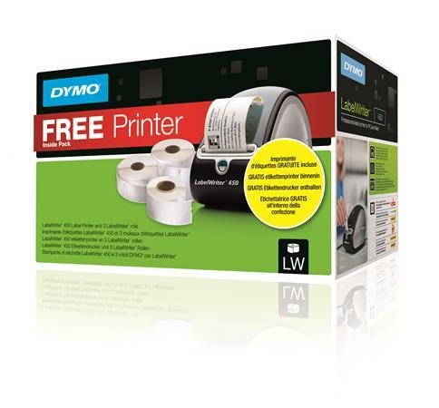 Etikett szett, ajándék LW450 etikett nyomtatóval, DYMO