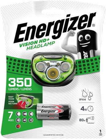 Fejlámpa, 3 LED, 3xAAA, ENERGIZER Headlight Vision HD Plus