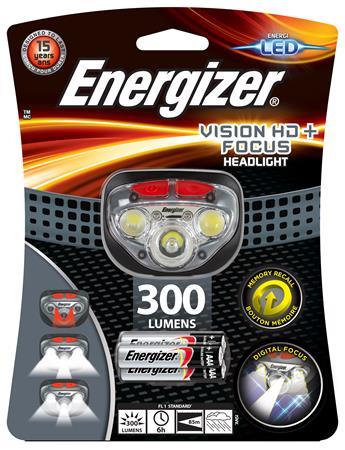 Fejlámpa, 3 LED, 3xAAA, ENERGIZER Headlight Vision HD Focus