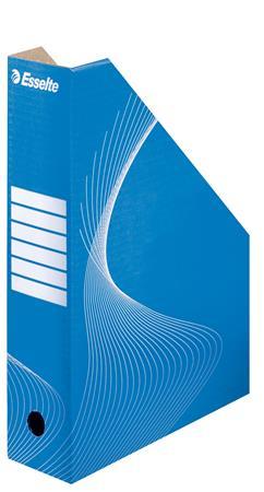 Iratpapucs, karton, 80 mm, összehajtható, ESSELTE Standard, kék