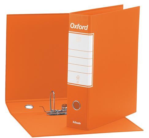 Tokos iratrendező, 80 mm, A4, karton, ESSELTE Oxford, narancssárga