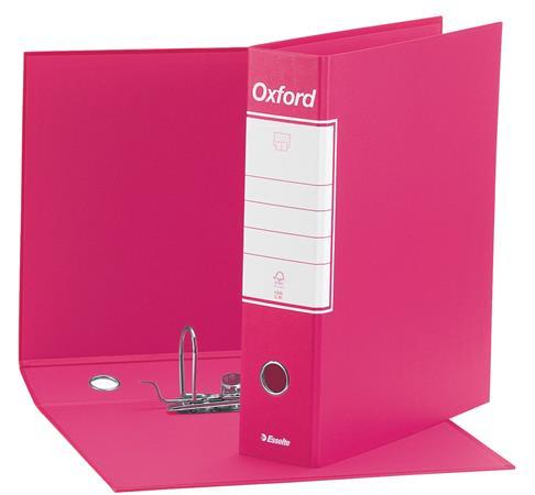 Tokos iratrendező, 80 mm, A4, karton, ESSELTE Oxford, rózsaszín