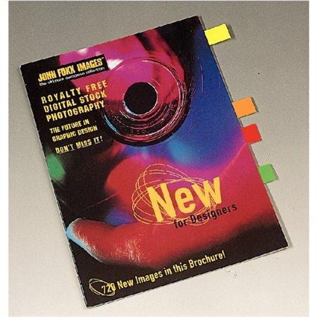 Jelölőcímke, papír, 4x40 lap, 20x50 mm, ESSELTE Contacta, vegyes, neon szín