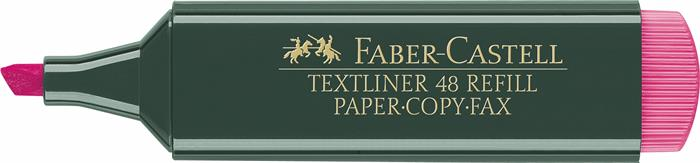 Szövegkiemelő, 1-5 mm, FABER-CASTELL, Textliner 48, rózsaszín