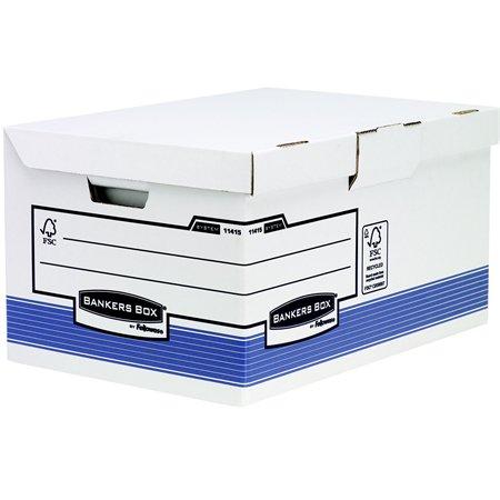Csapófedeles archiváló konténer, BANKERS BOX®  SYSTEM BY FELLOWES® , kék