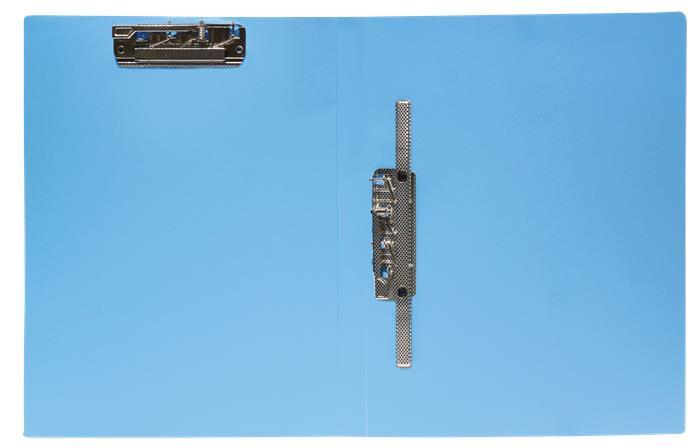 Villámzáras mappa, dupla klipes, PP, A4, FLEXOFFICE FO-CF01, kék