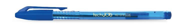 Golyóstoll, 0,4 mm, kupakos, FLEXOFFICE TechJob, kék