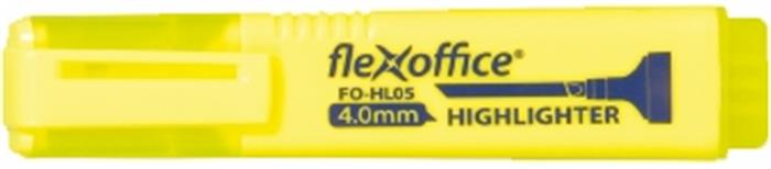 Szövegkiemelő, 4,0 mm, FLEXOFFICE HL05, sárga