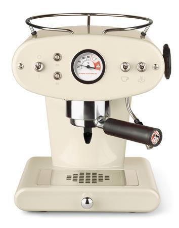 Kávéfőzőgép, darálós, ILLY, Francis Francis X1 krémszín