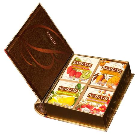 Fekete tea,filteres, fém könyv dobozban, BASILUR Magic Fruits Assorted