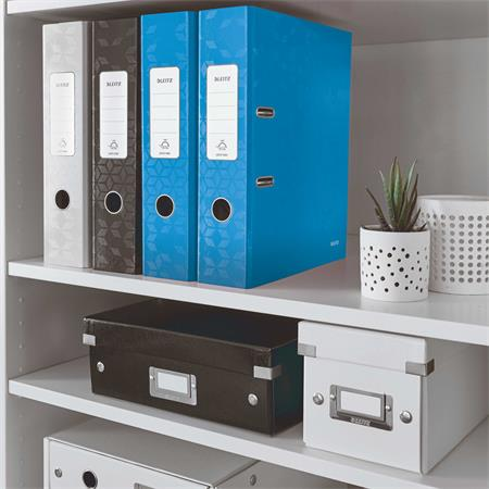 Iratrendező, 80 mm, A4, PP/karton, lakkfényű, LEITZ 180 Wow, kék