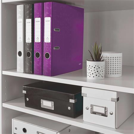 Iratrendező, 52 mm, A4, PP/karton, lakkfényű, LEITZ 180 Wow, lila