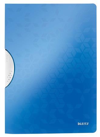 Gyorsfűző, klipes, PP, A4, LEITZ Wow ColorClip kék