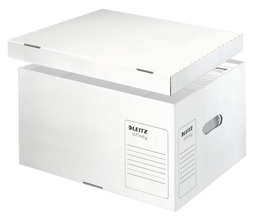 Archiváló konténer, L méret, LEITZ Infinity, fehér