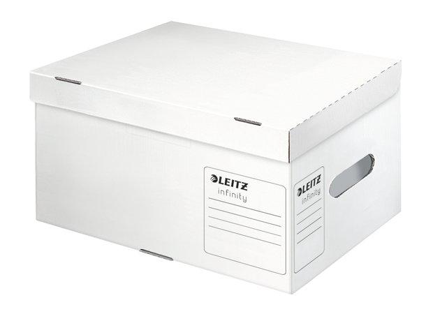 Archiváló konténer, S méret, LEITZ Infinity, fehér