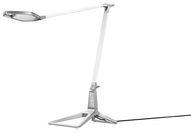 Asztali lámpa, LED, LEITZ Style Smart, kristályfehér