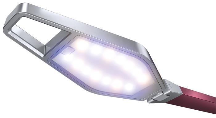 Asztali lámpa, LED, LEITZ Style Smart, gránátvörös