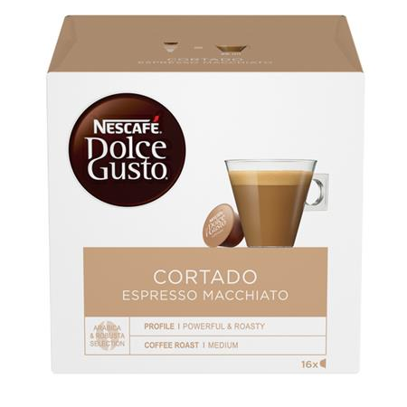 Kávékapszula, 16 db,  NESCAFÉ Dolce Gusto Cortado Espresso Macchiato