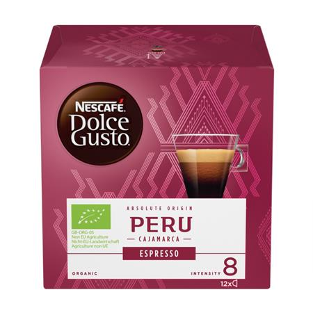 Kávékapszula, 12 db, NESCAFÉ Dolce Gusto Espresso Peru