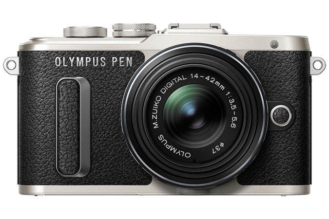 """Fényképezőgép, fekete váz, EZ-M1442EZ fekete objektív, OLYMPUS E-PL8 Pancake Zoom Kit"""""""