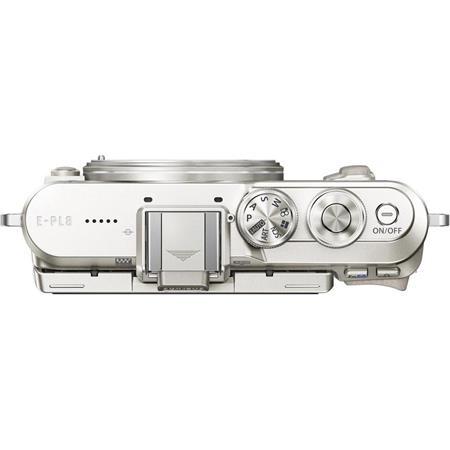 Fényképezőgép, fehér váz,  OLYMPUS E-PL8