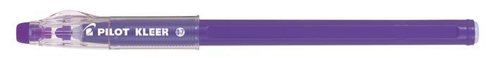 Golyóstoll, 0,35 mm, törölhető, kupakos, PILOT Kleer, lila
