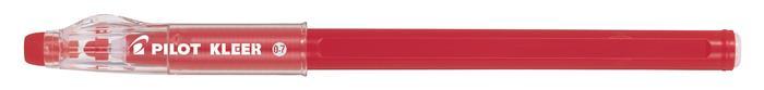 Golyóstoll, 0,35 mm, törölhető, kupakos, PILOT Kleer, piros