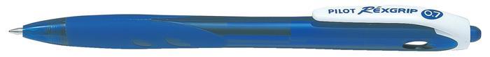 Golyóstoll, 0,27 mm, nyomógombos, PILOT Rexgrip, kék