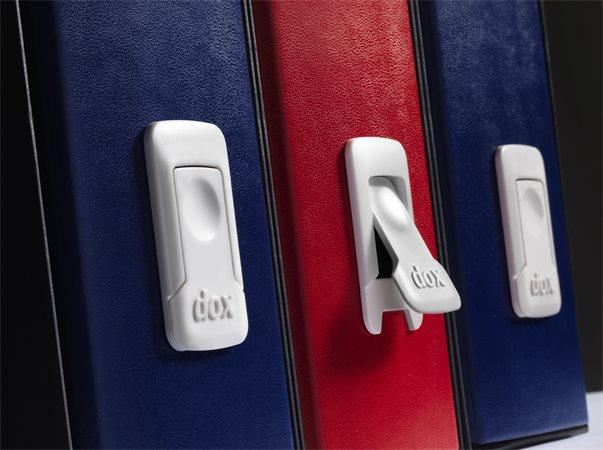 Tokos iratrendező, 85 mm, A4, karton, REXEL Dox, kék