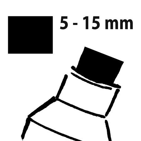 Folyékony krétamarker, vágott hegy, 5-15 mm, SIGEL150 sárga