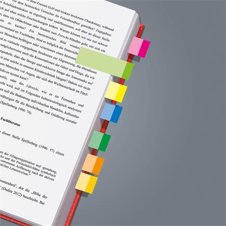 Jelölőcímke, papír, 10x50 lap, 15x50 mm, SIGEL Multicolor, vegyes szín