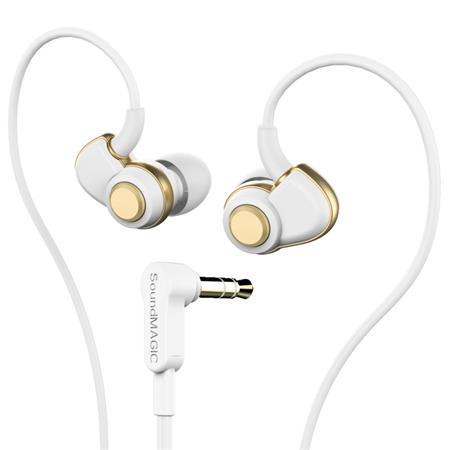 Fülhallgató, SOUNDMAGIC PL30+, fehér-arany