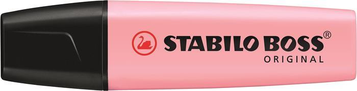 Szövegkiemelő, 2-5 mm, STABILO Boss, pasztell rózsa
